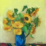 sunflowers-with-blue-pitcher